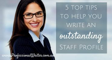 How to write an outstanding staff profile, help writing staff profile, professional staff profile writer