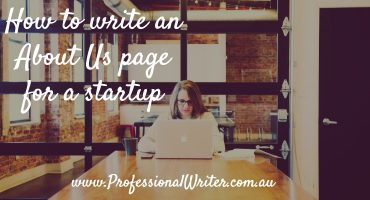 Startup About us page, about us page for startups, Professional Writer, About Us page help
