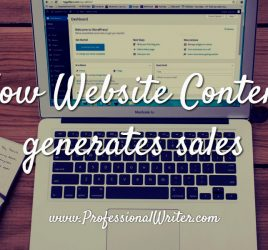 How to use website content to generate sales, web content, professional writer for web content