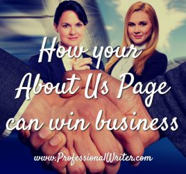 About Us page, How to write an About Us page, help writing About Us page, Professional Writer, About Us page tips