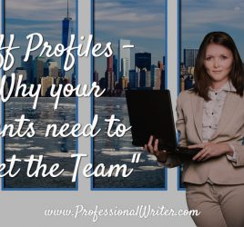 Staff profiles, meet the team, how to write staff profiles, website content, Professional Writer
