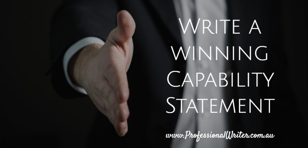 How to write a capability statement, contents of a capability statement, professional capability statement writer, professional writer
