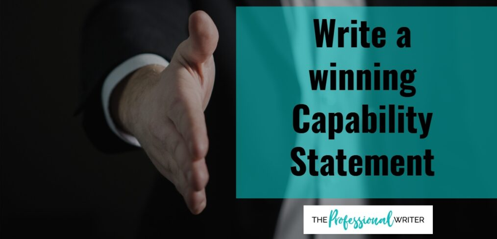 Write a winning capability statement, capability statement writer, professional writer
