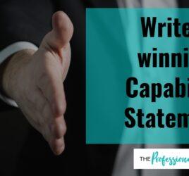 Write a winning capability statement, capability statement writer, professional writer