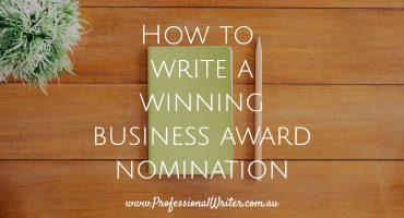Business awards, write a winning business award entry, business awards writer, help to win business award, how to write a winning business award nomination
