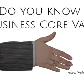 business core values, identify your business values