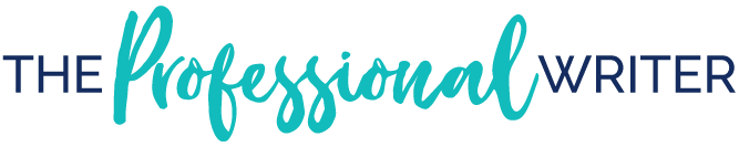 The Professional Writer logo teal colour